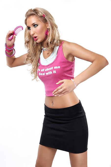 machiaj papusa Barbie