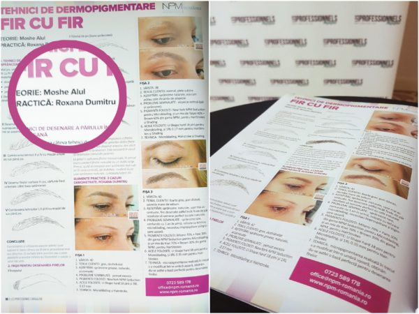 roxana dumitru, despre dermopigmentare in revista les professionels
