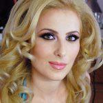 makeup blonda cu ochi caprui