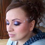 Albastru sidefat in makeup mireasa