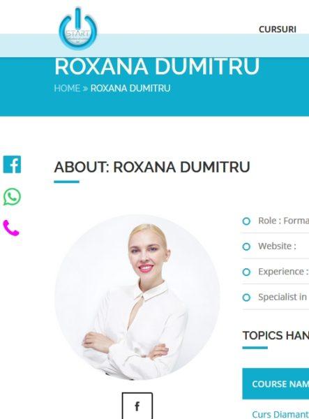 Roxana Dumitru, trainer Start Academy