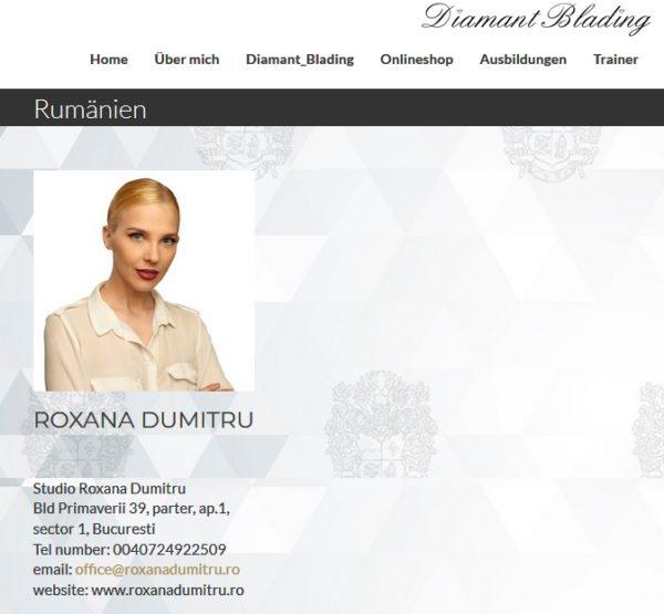 roxana dumitru este trainer diamant blading