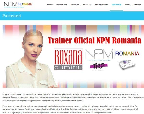 roxana dumitru este trainer npm romania